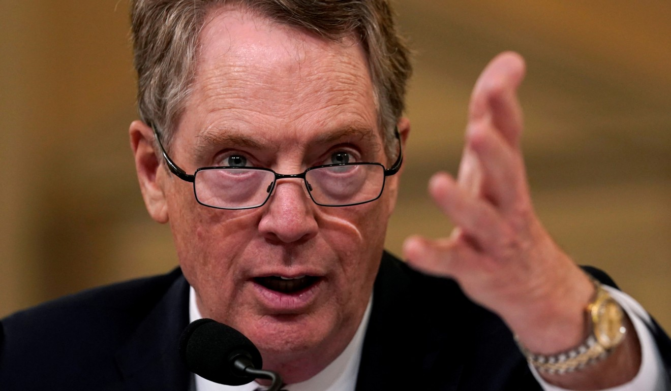 """US Trade Representative Robert Lighthizer accused China's trade negotiators of """"reneging"""" on commitments reached during talks in Beijing. Photo: Reuters"""