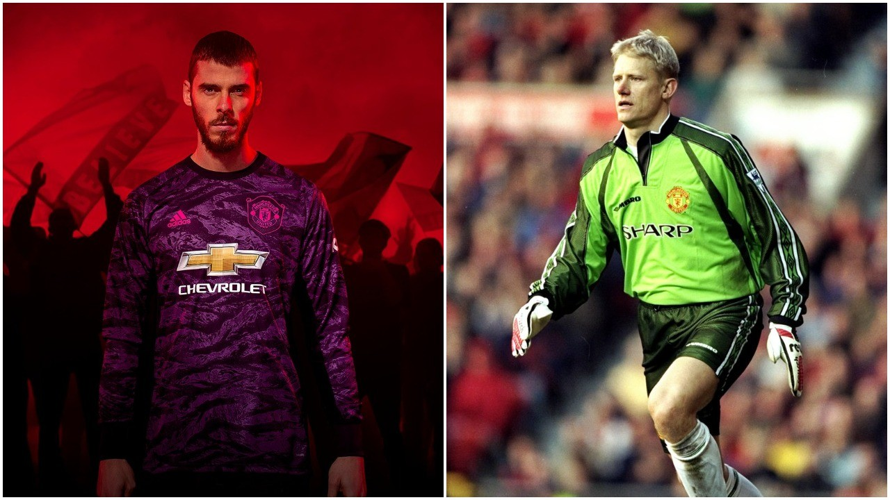 85aade886 Manchester United s new kit celebrating 1999 treble gets colour of goalkeeper  shirt wrong