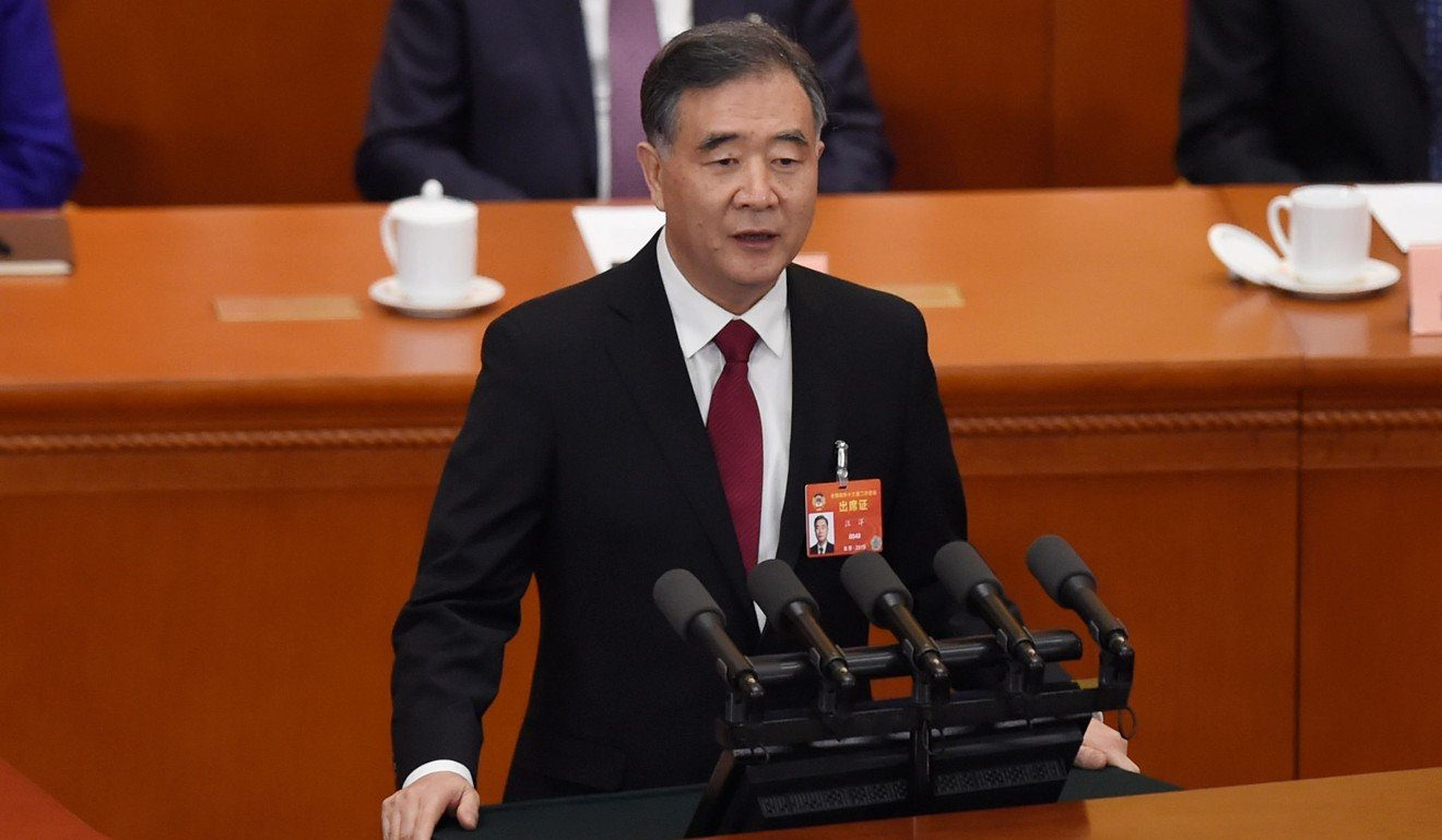 Wang Yang, one of seven members of China's Politburo Standing Committee, said the trade war could knock a full percentage point off China's economic growth this year. Photo: AFP