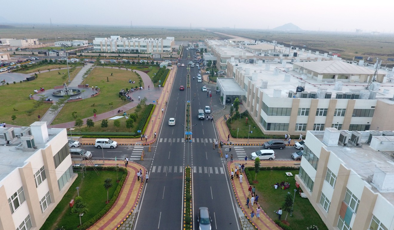 Construction has begun on the city of Amaravati, the new capital of the state of Andhra Pradesh. Photo: AFP