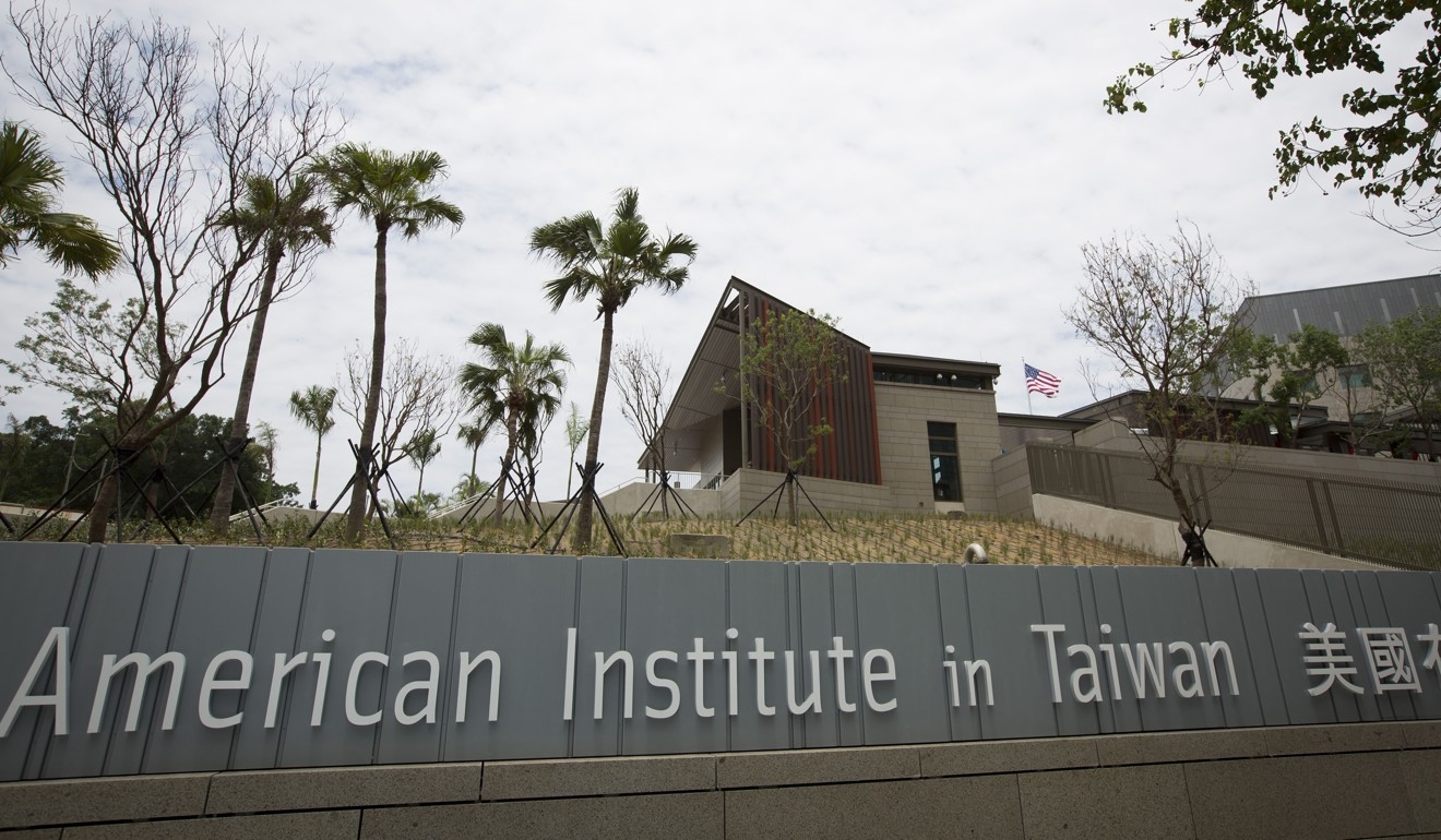 The American Institute in Taiwan relocated to a larger, purpose-built compound last month. Photo: Bloomberg