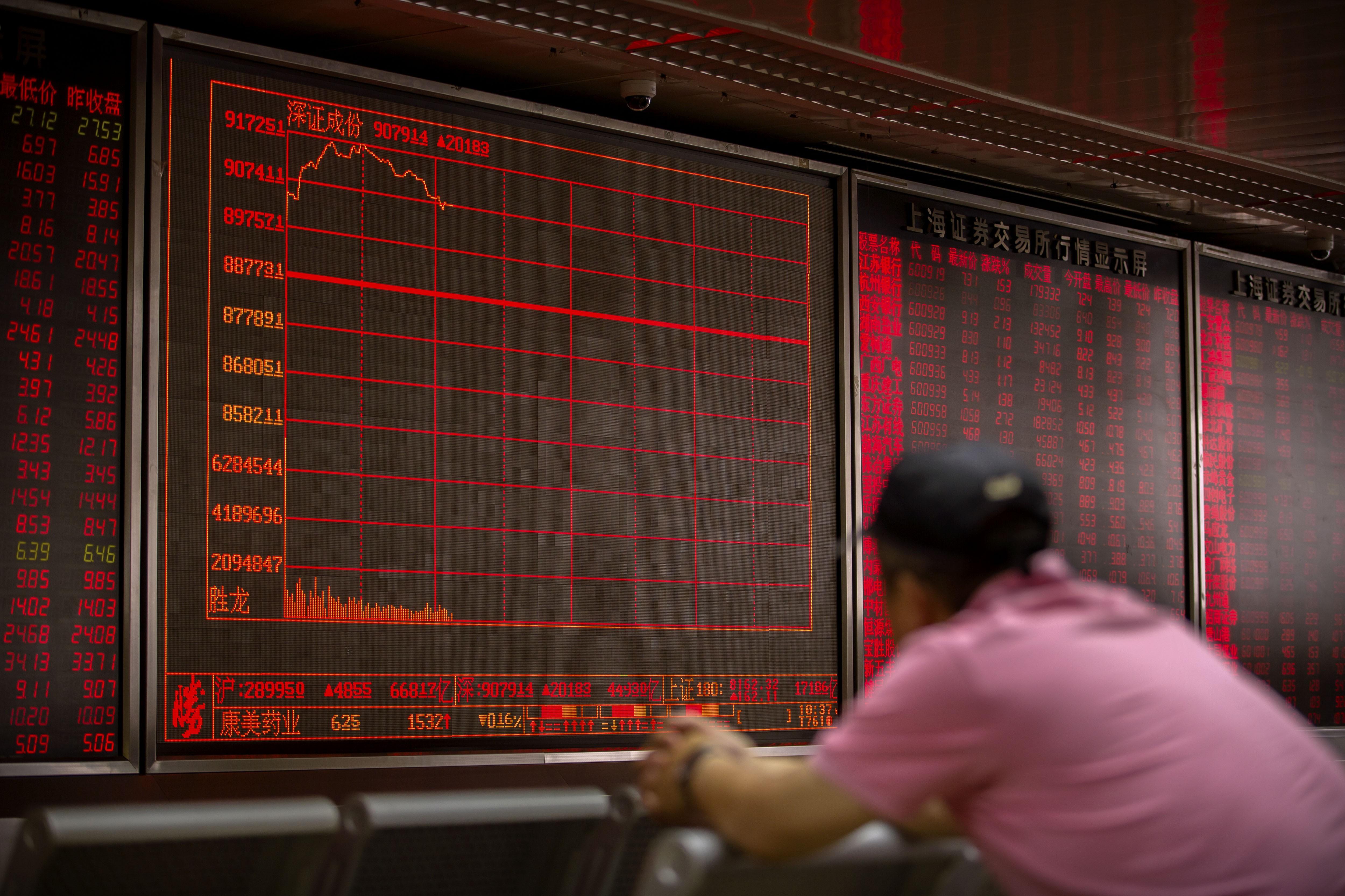 Shanghai ends seven-day losing streak while Hang Seng Index falls on