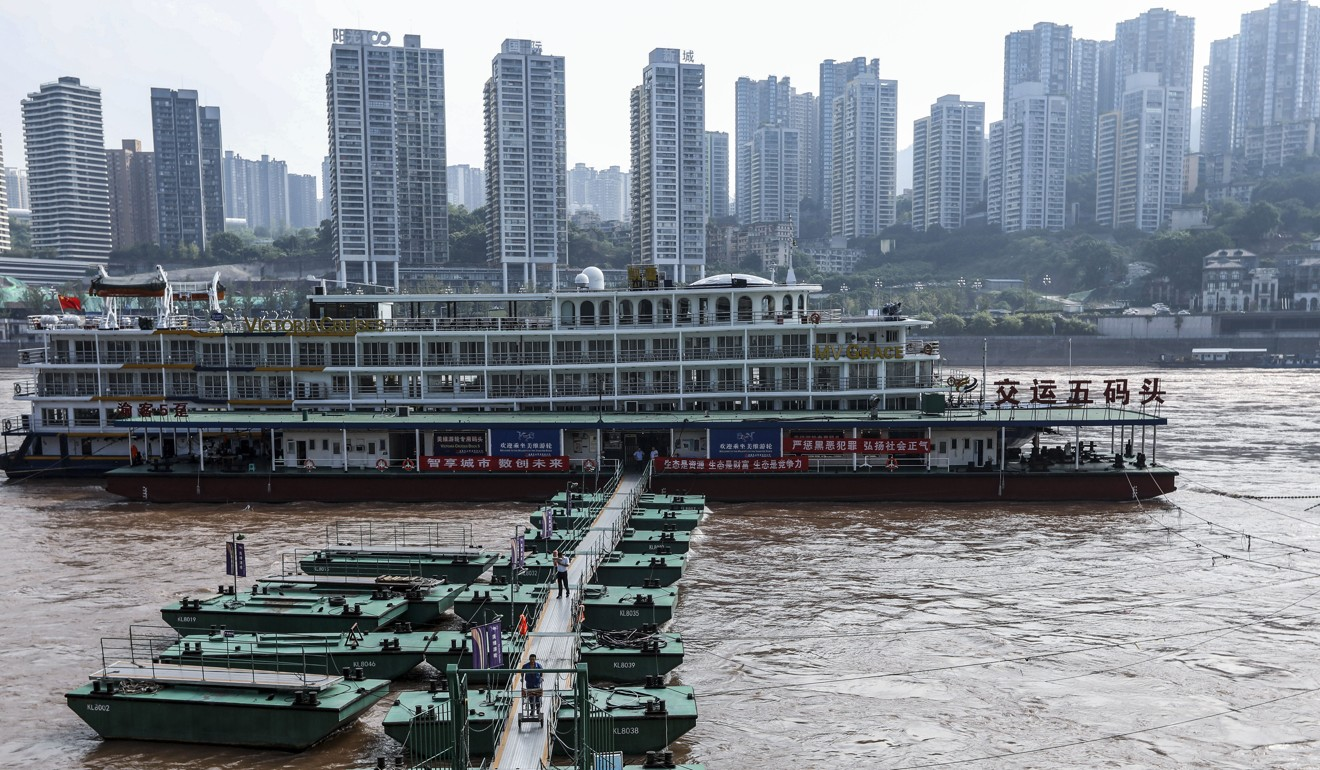 The Yangtze and Jialing rivers come together in the southwestern city of Chongqing. Photo: Simon Song