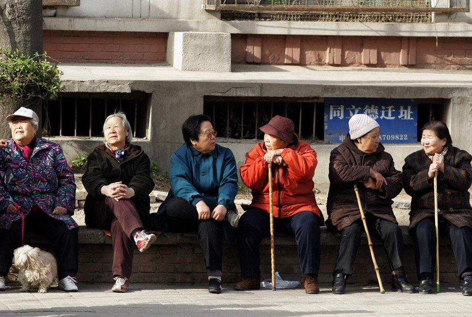 China's national pension fund is forecast to peak at 6.99 trillion yuan (US$1 trillion) in 2027 before it gradually runs out by 2035, according to the Chinese Academy of Social Sciences. Photo: AFP