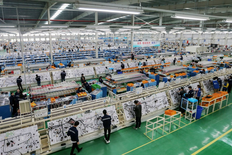 Industrial profits stood at 515.39 billion yuan (US$74.7 billion) last month, down 3.7 per cent compared to a year earlier. Photo: AFP