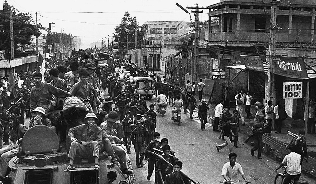 In 1975, communist troops entered Saigon as the city fell under their control. Photo: AFP