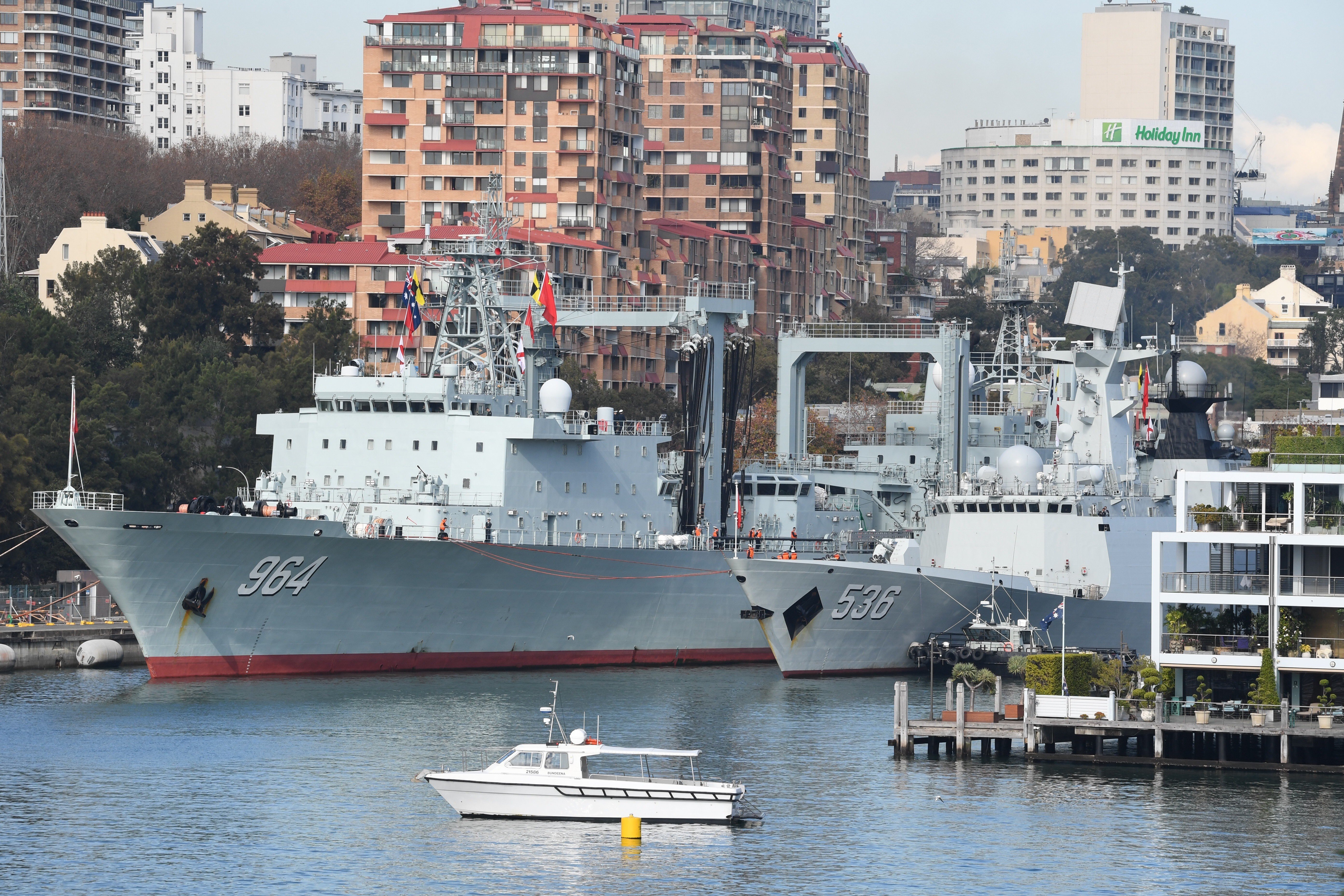 Chinese warships in Sydney: a surprise for the Australian public