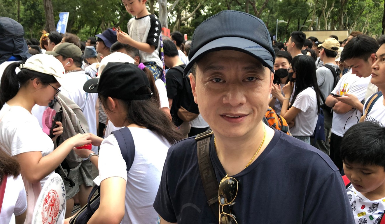 Businessman Ben Liang said he was fighting for the values that differentiated Hong Kong from the rest of the China. Photo: Alvin Lum