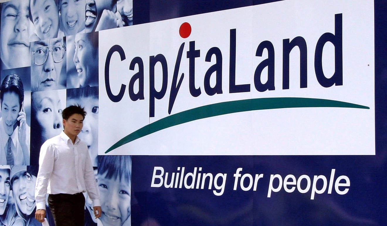 Singapore companies including CapitaLand have been aggressively buying commercial property assets in key Chinese cities. Photo: AFP