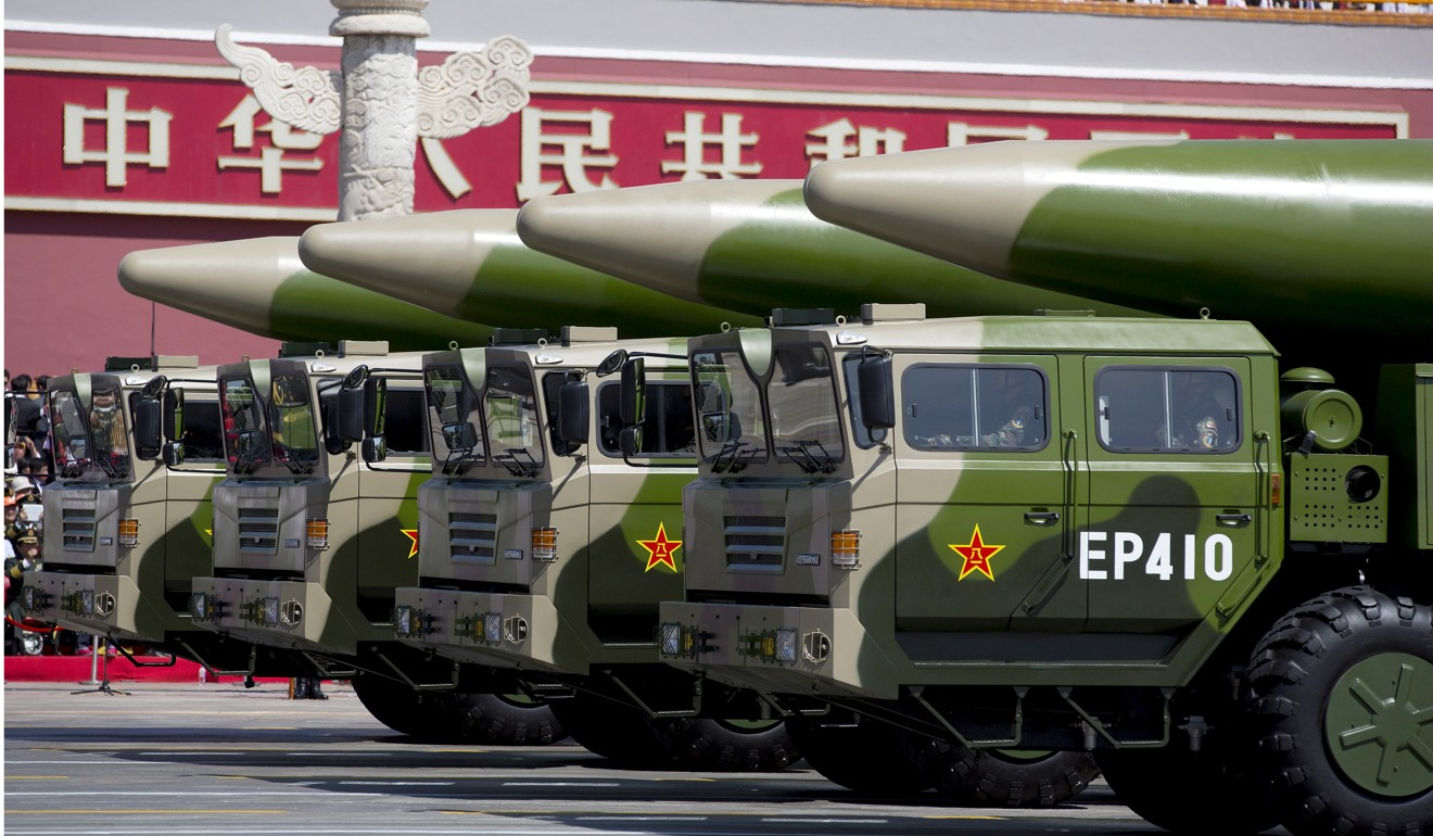 Chinese military units are training with missiles that could destroy satellites. Photo: Reuters
