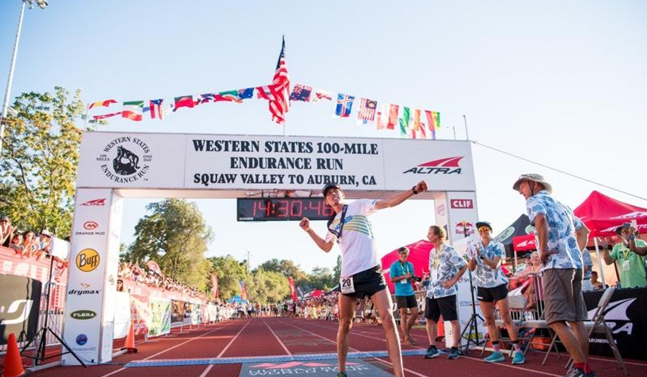 Jim Walmsley sets the Western State 100 record. He's one of the best trail runners in the world. I might be one of the worst, but we have lined up in the same race. Photo: Hoka One One