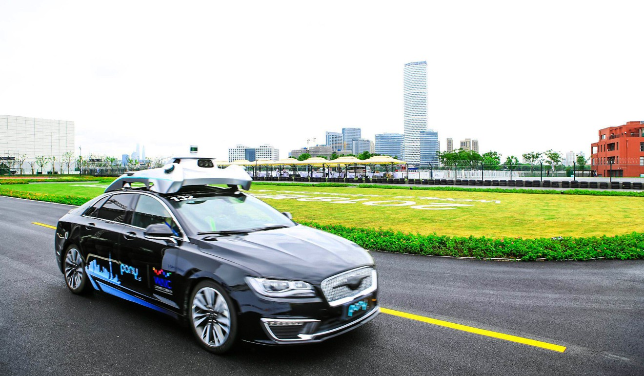 An autonomous car refitted by Pony.ai. The firm is one of two Chinese start-ups to be issued a US robotaxi permit. Photo: Handout