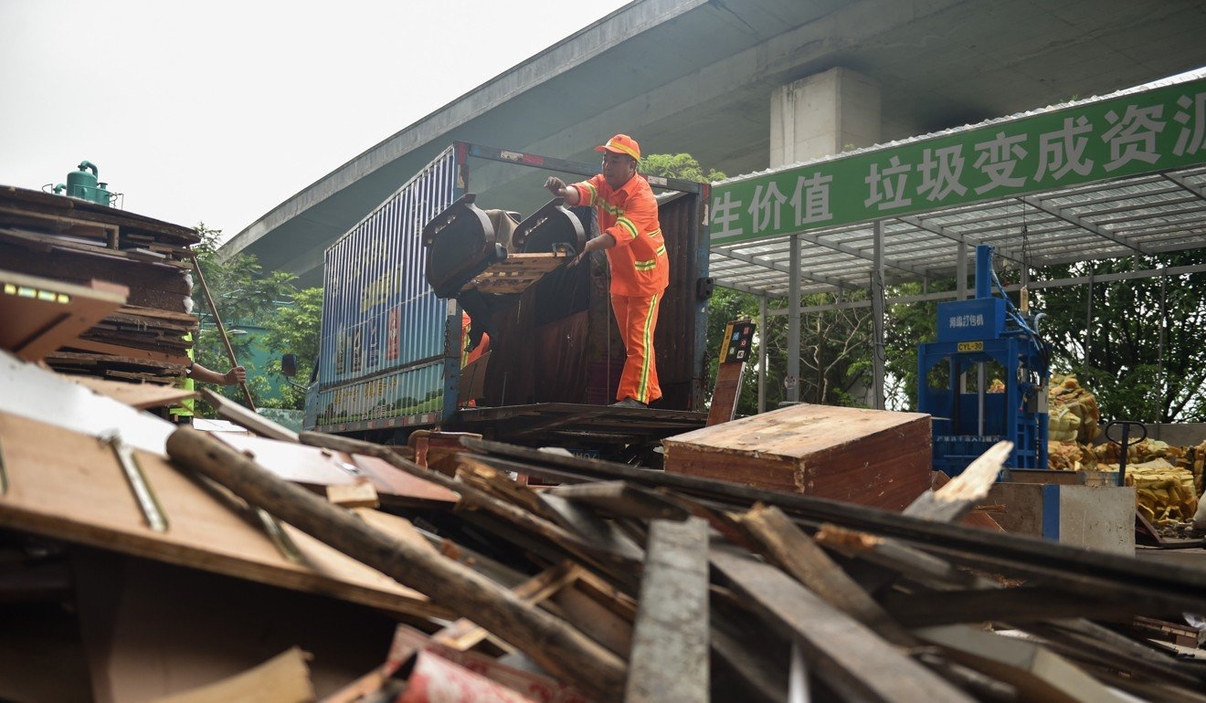The concept of sorting waste is still new in China. Photo: Xinhua