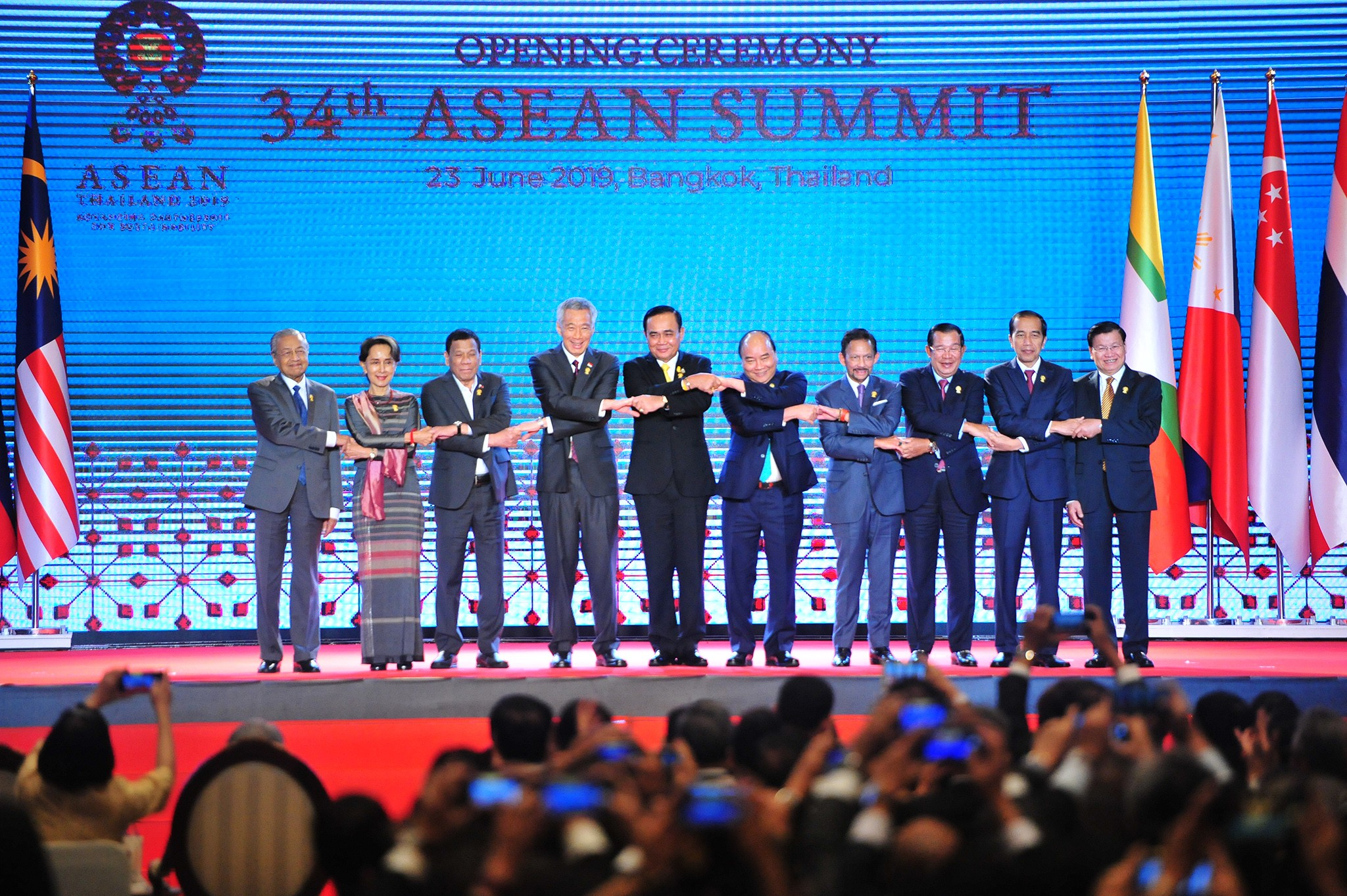 Asean leaders call for restraint in disputed South China Sea, as US-China trade war rages on