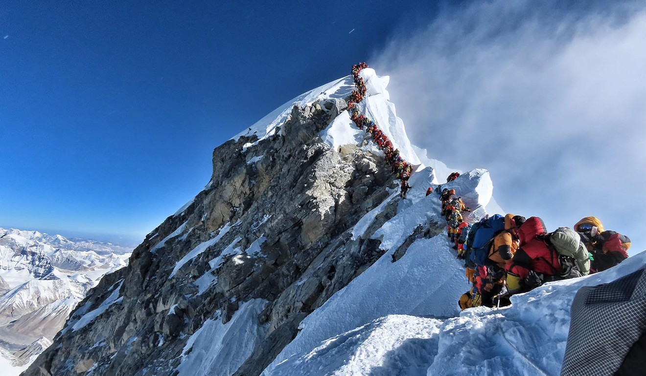 Images of huge queues at the Everest summit have recently emerged. Some of the 11 deaths in May were attributed to the traffic jams. Photo: @nimsdai Project Possible