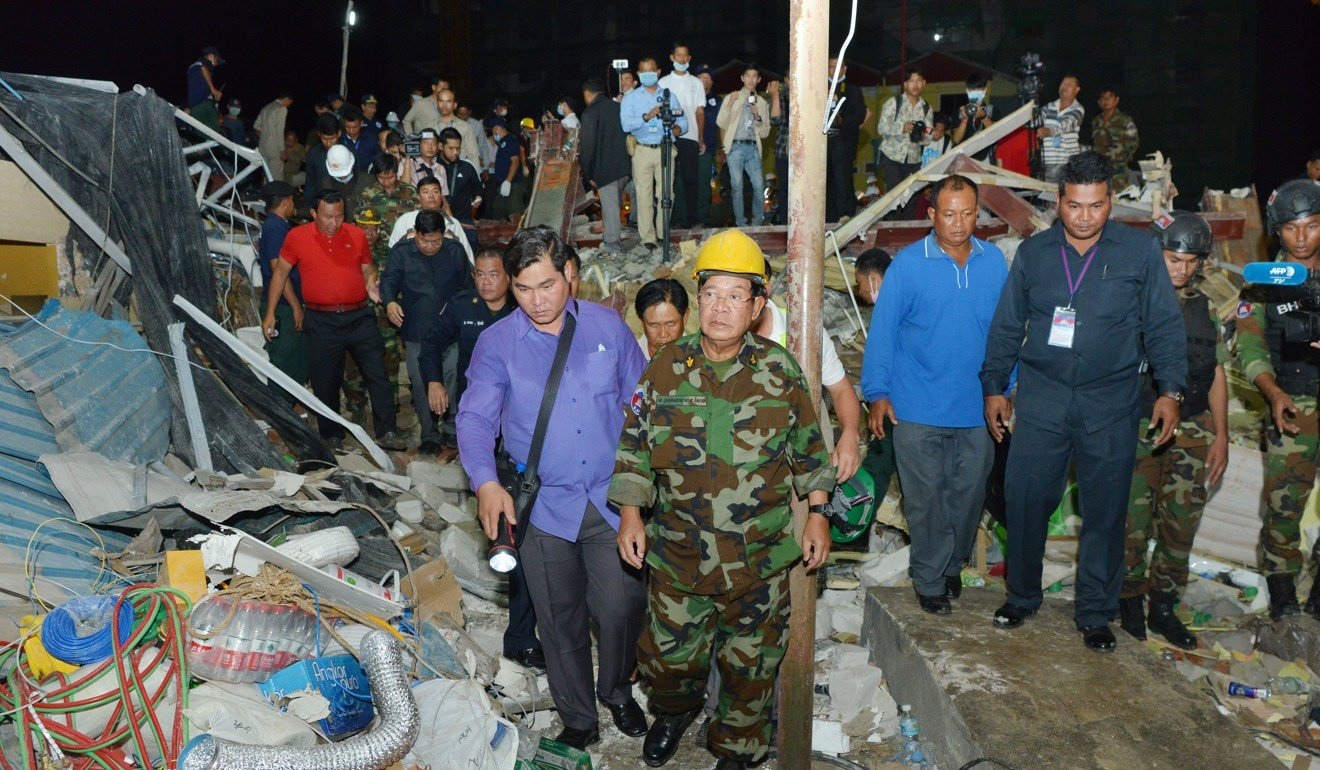 Four Chinese charged over Cambodian building collapse that killed 28 people in Sihanoukville