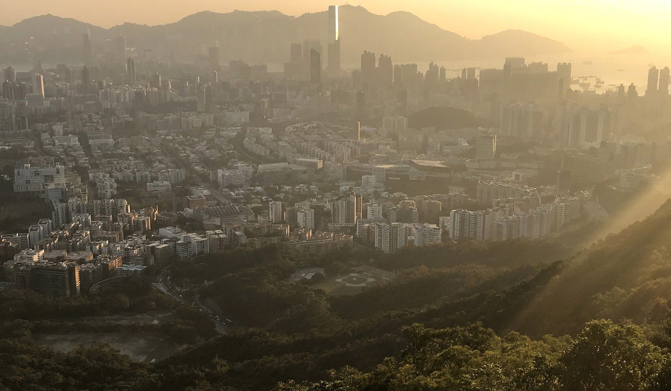 The view across the city from Lion Rock. Photo: EPA