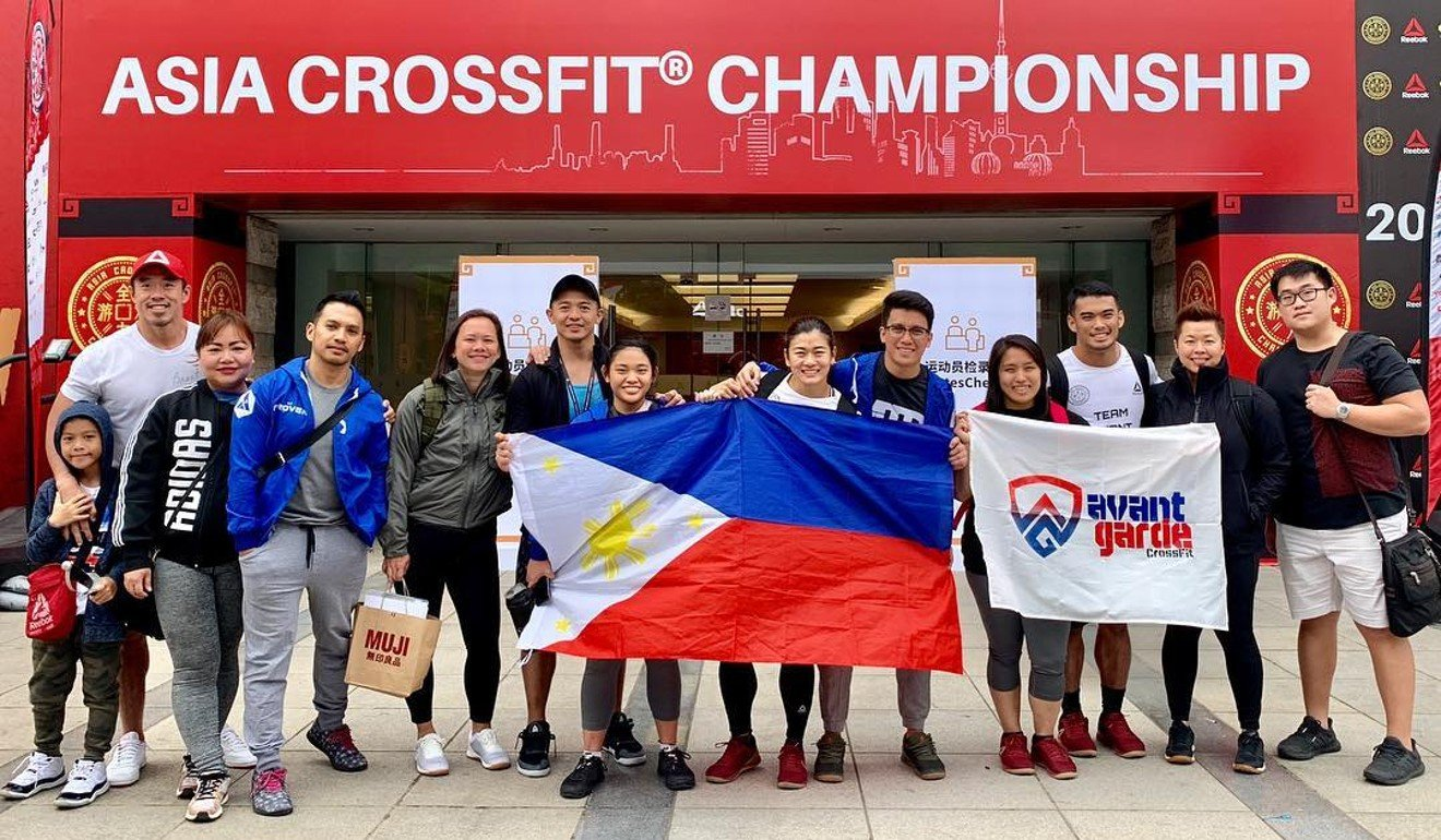 Justin Hernandez (in white on right) along with fellow CrossFit Avant Garde CrossFitters representing the Philippines at the 2019 Asia CrossFit Championship. Photo: Asia CrossFit Championship