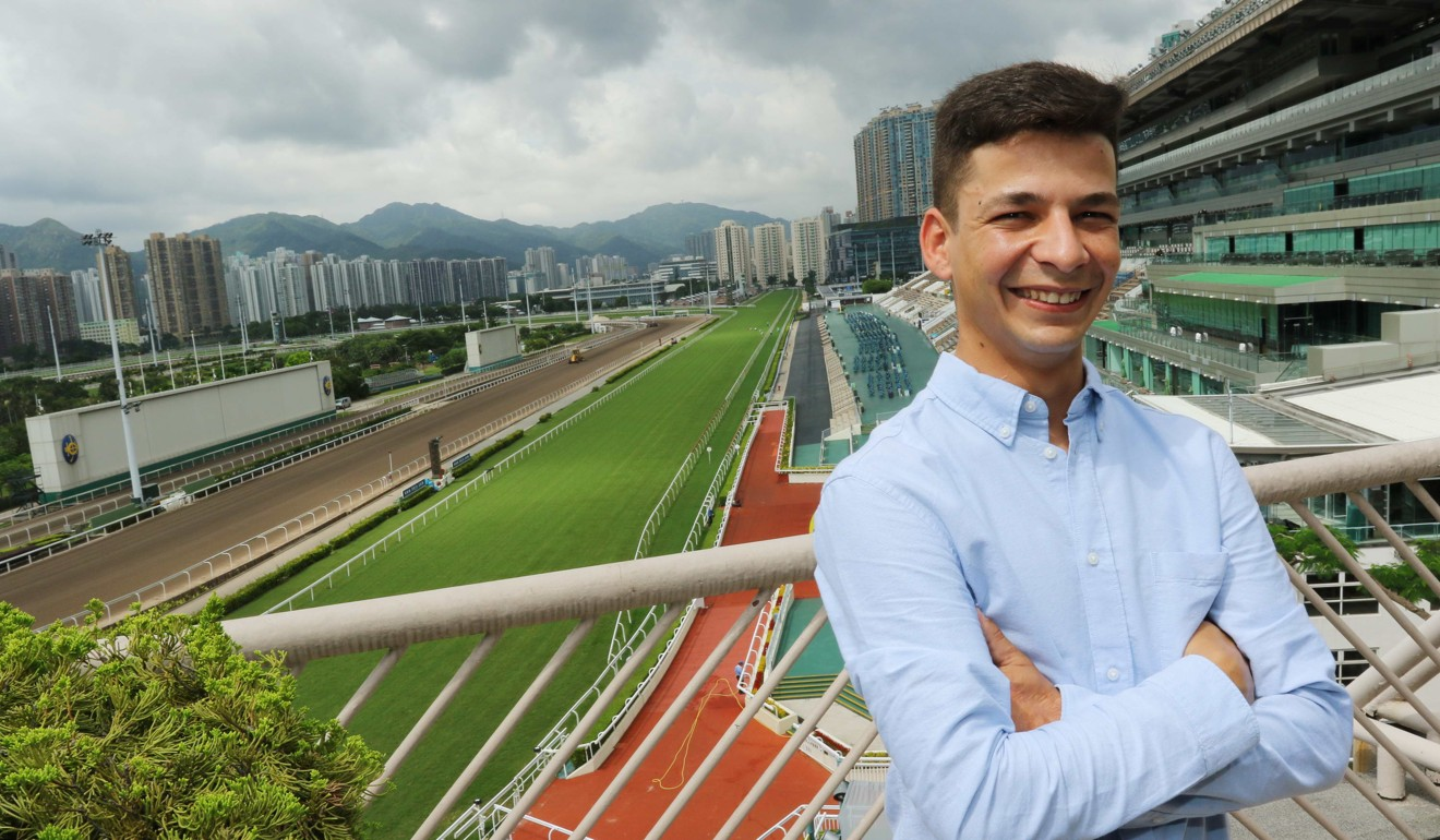Jockey Vagner Borges meets the press at Sha Tin on Friday morning.