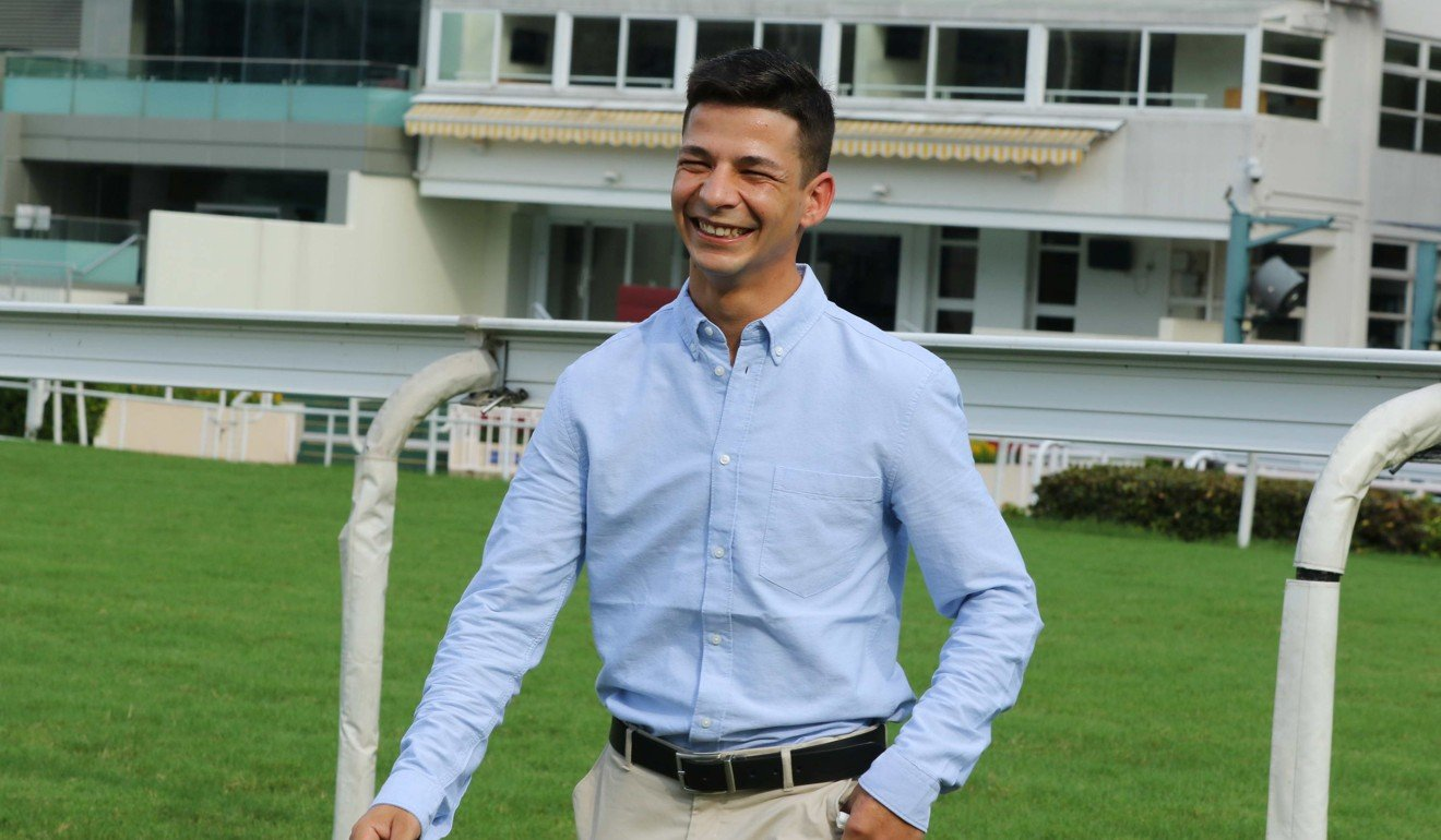 Jockey Vagner Borges inspects Sha Tin for the first time on Friday morning.