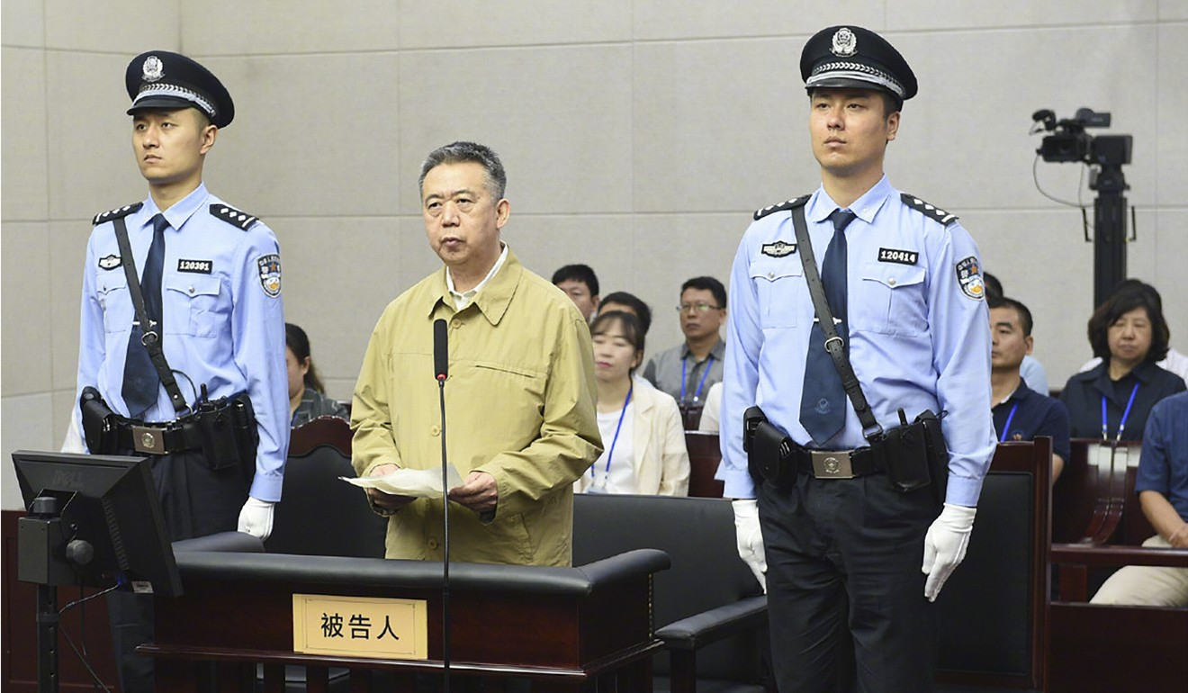 Meng Hongwei, the former president of Interpol, pleaded guilty earlier this month to taking bribes totalling more than US$2 million.