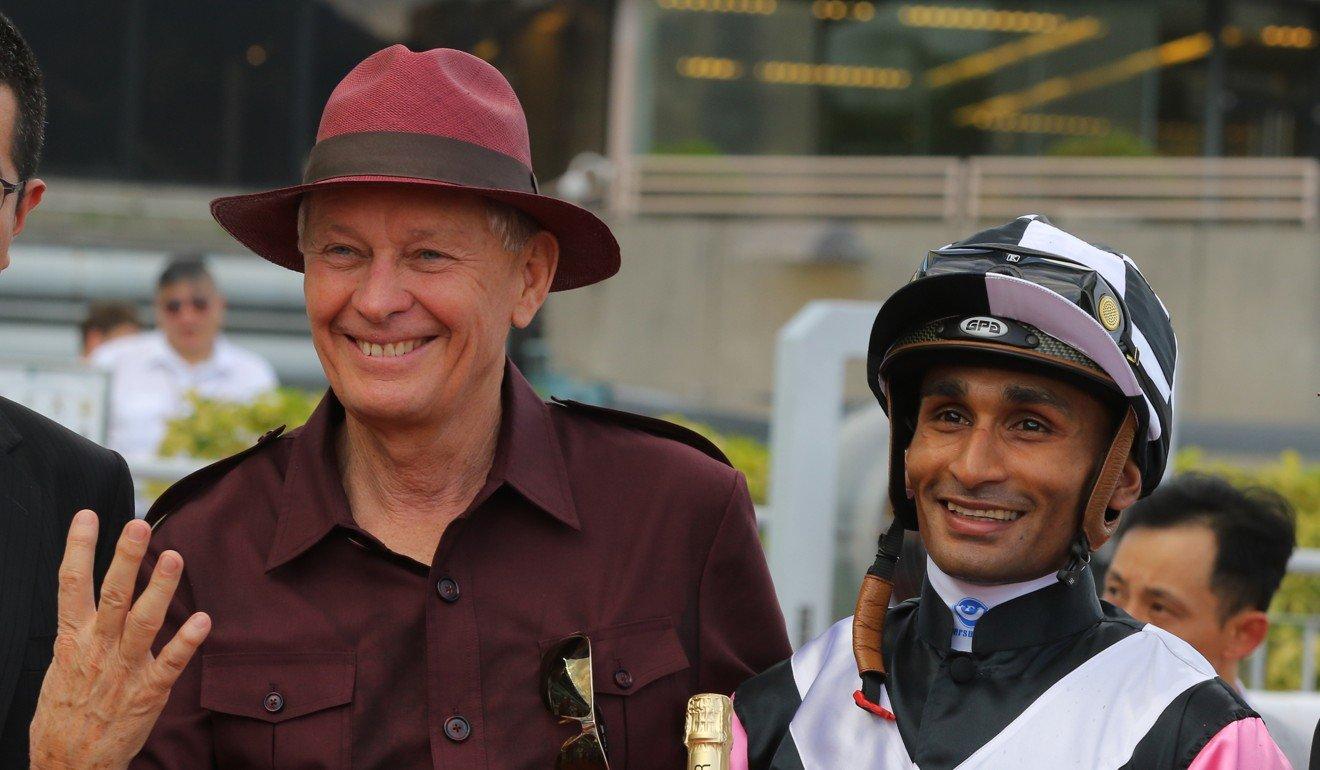 Trainer John Moore and jockey Karis Teetan team up on Monday with Thanks Forever.