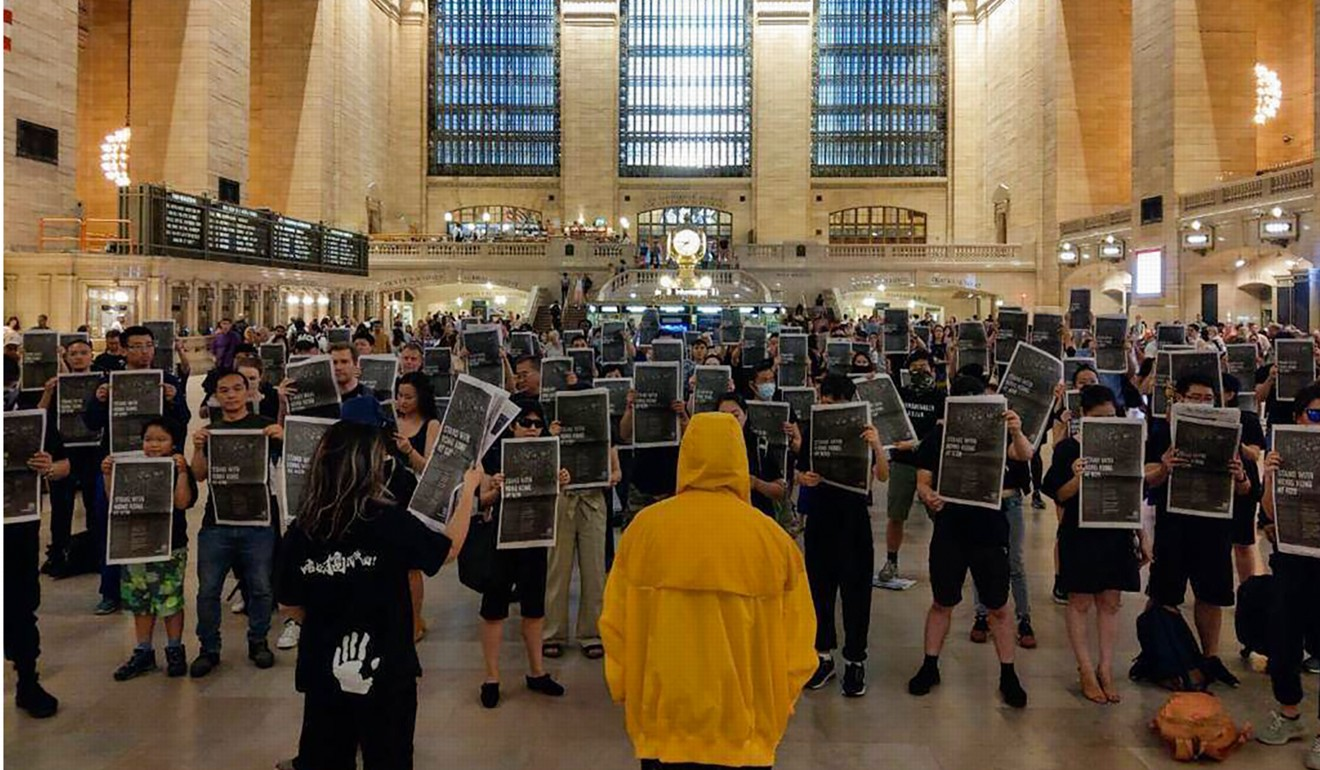 A silent flash mob in New York's Grand Central Station. Photo: Facebook
