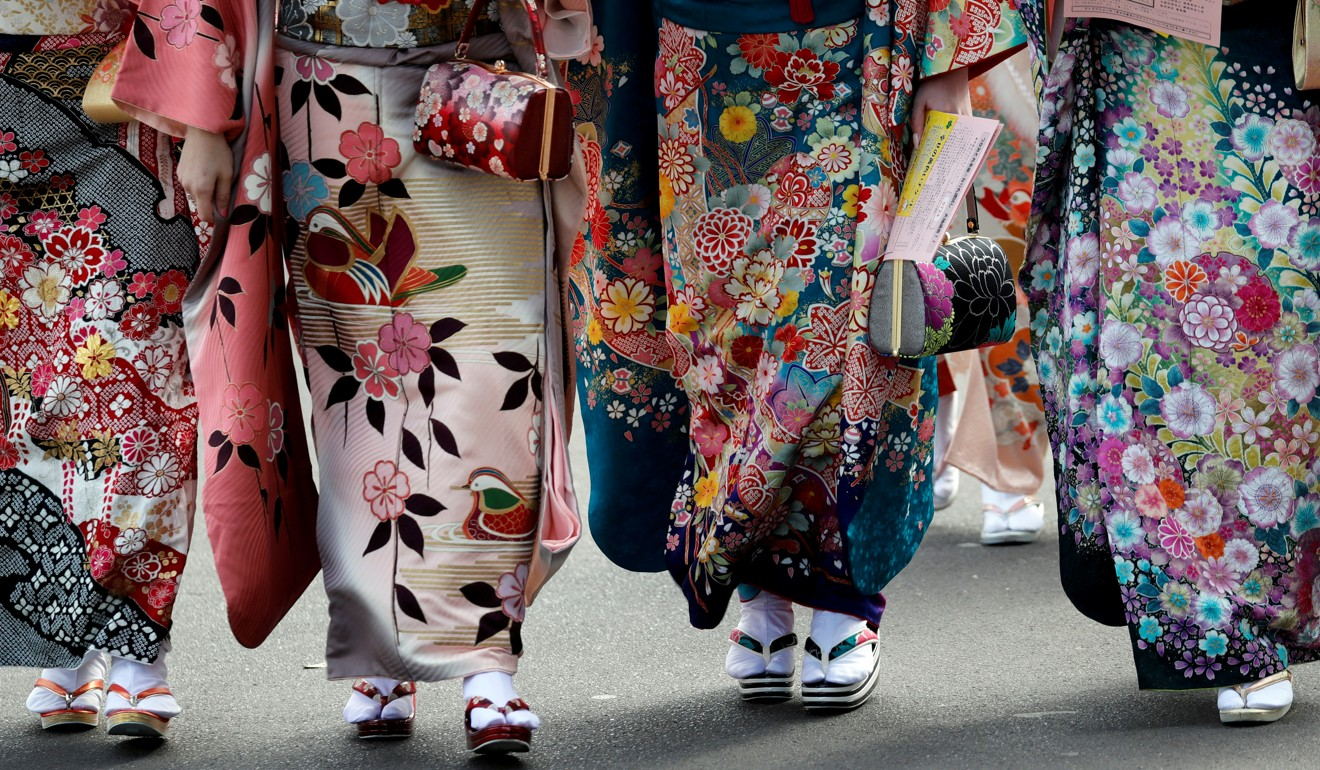 Japanese women wearing kimonos attend their Coming of Age Day celebration ceremony in Tokyo. Photo: Reuters