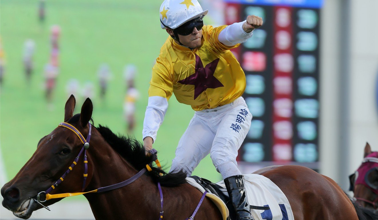 Keith Yeung salutes aboard Not Usual Talent last month.