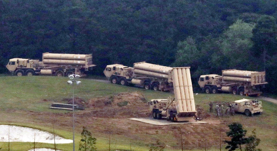 The Terminal High Altitude Area Defence (THAAD) arrived in Seongju in September 2017. Photo: Reuters