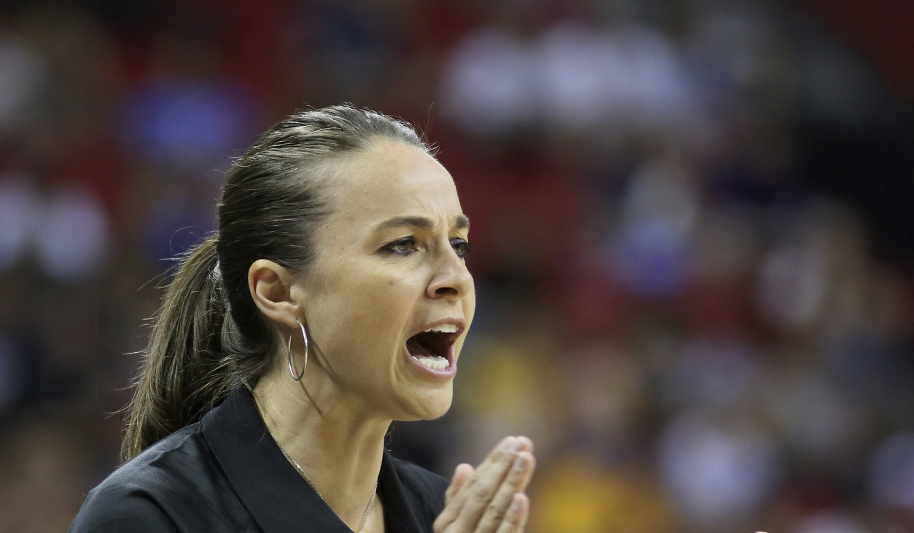 Becky Hammon is the assistant coach of San Antonio Spurs in the NBA – a rare example of a woman in a high profile coaching role. Photo: AP