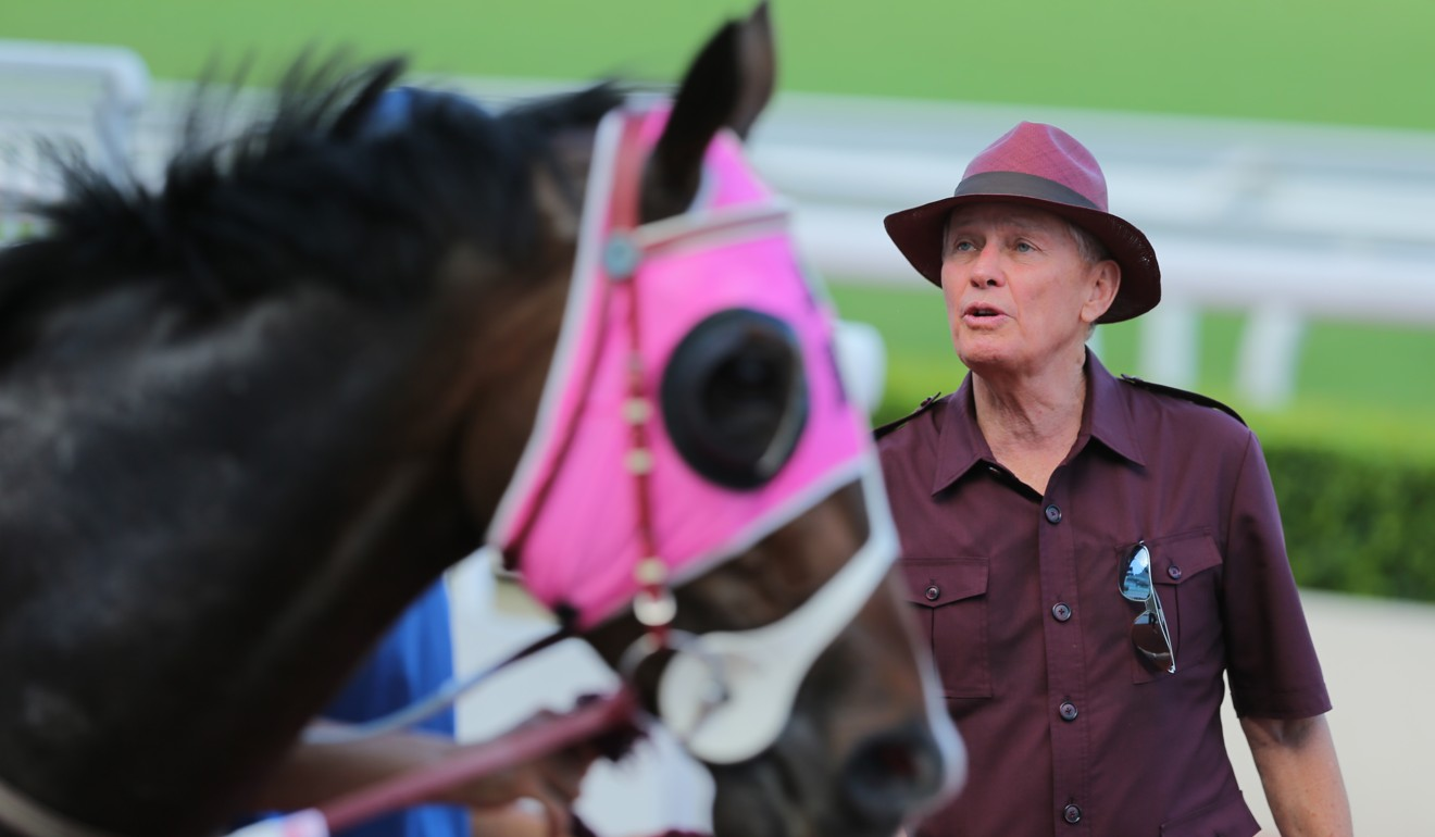 John Moore with his horse Classic Beauty at Sha Tin last week.