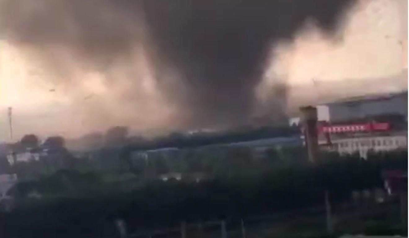 Six dead after freak tornado tears through town in northern