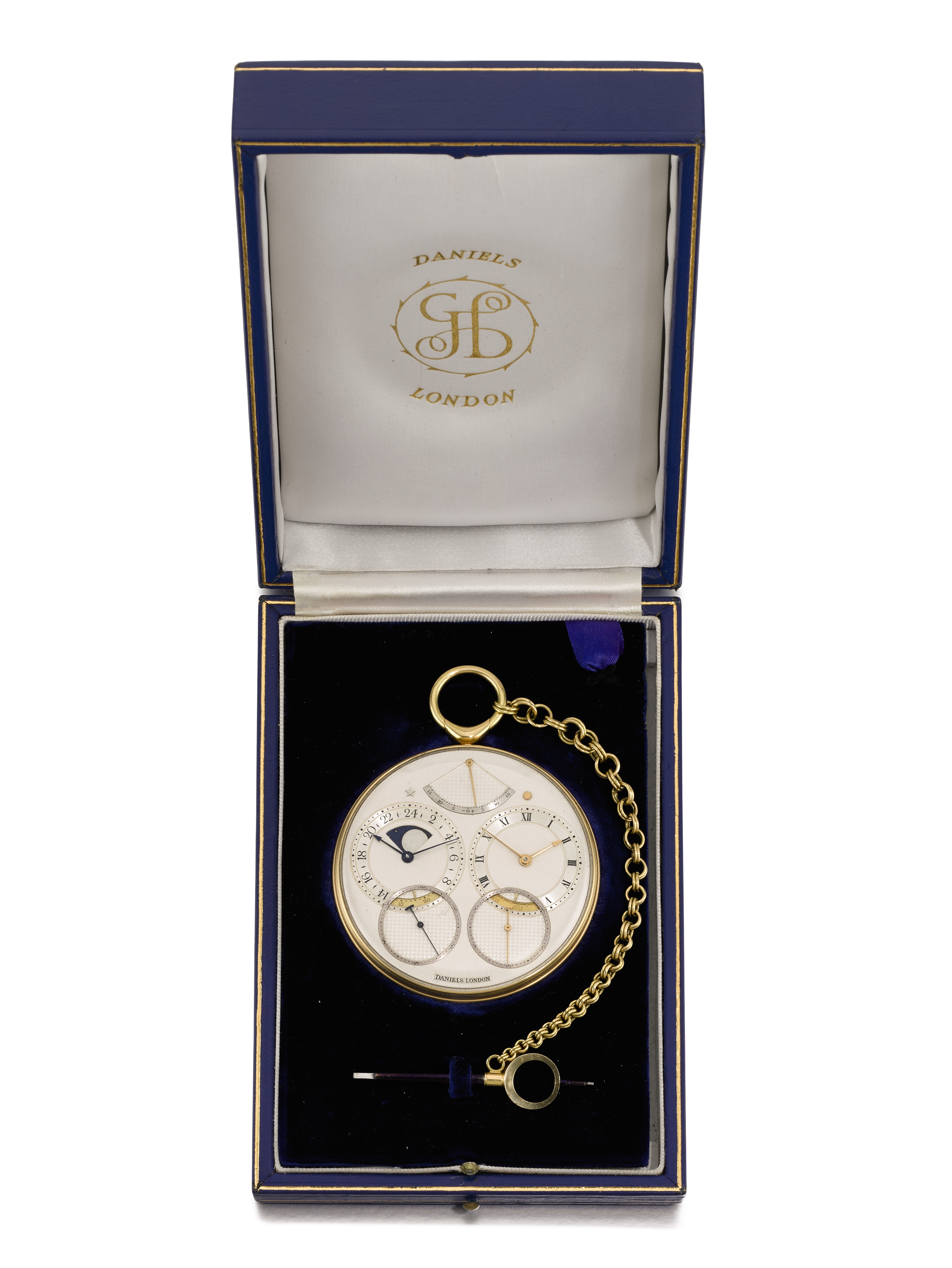 George Daniels Space Traveller 1 pocket watch, inspired by the Apollo 11 moon landing, fetches a record US$4.6 million at auction