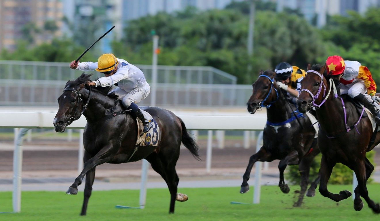 Vincent Ho kicks clear on Golden Sixty last start.