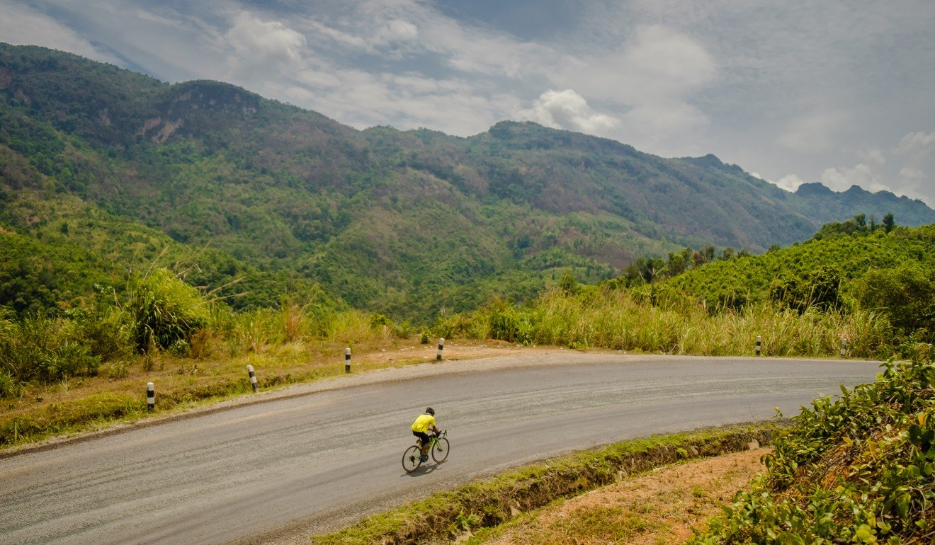 Not many people dare to tackle this beast of a nameless climb in Laos. Photo: Steve Thomas