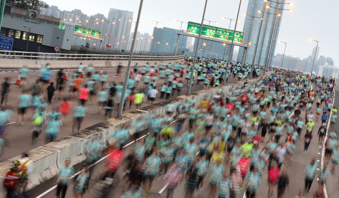 The Standard Chartered Hong Kong Marathon draws more than 65,000 runners each year. Photo: Felix Wong
