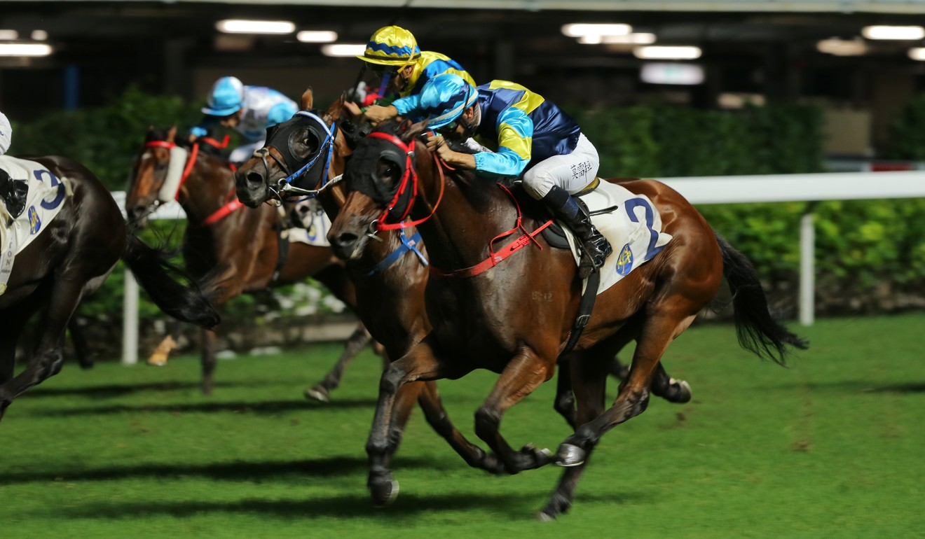 True Grit storms home to win at Happy Valley on Wednesday night.