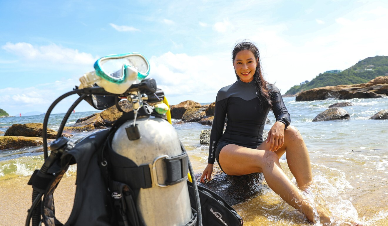 Swimming with sharks doesn't faze Hong Kong actress and seasoned diver Hidy Yu, who is also committed to helping preserve marine life