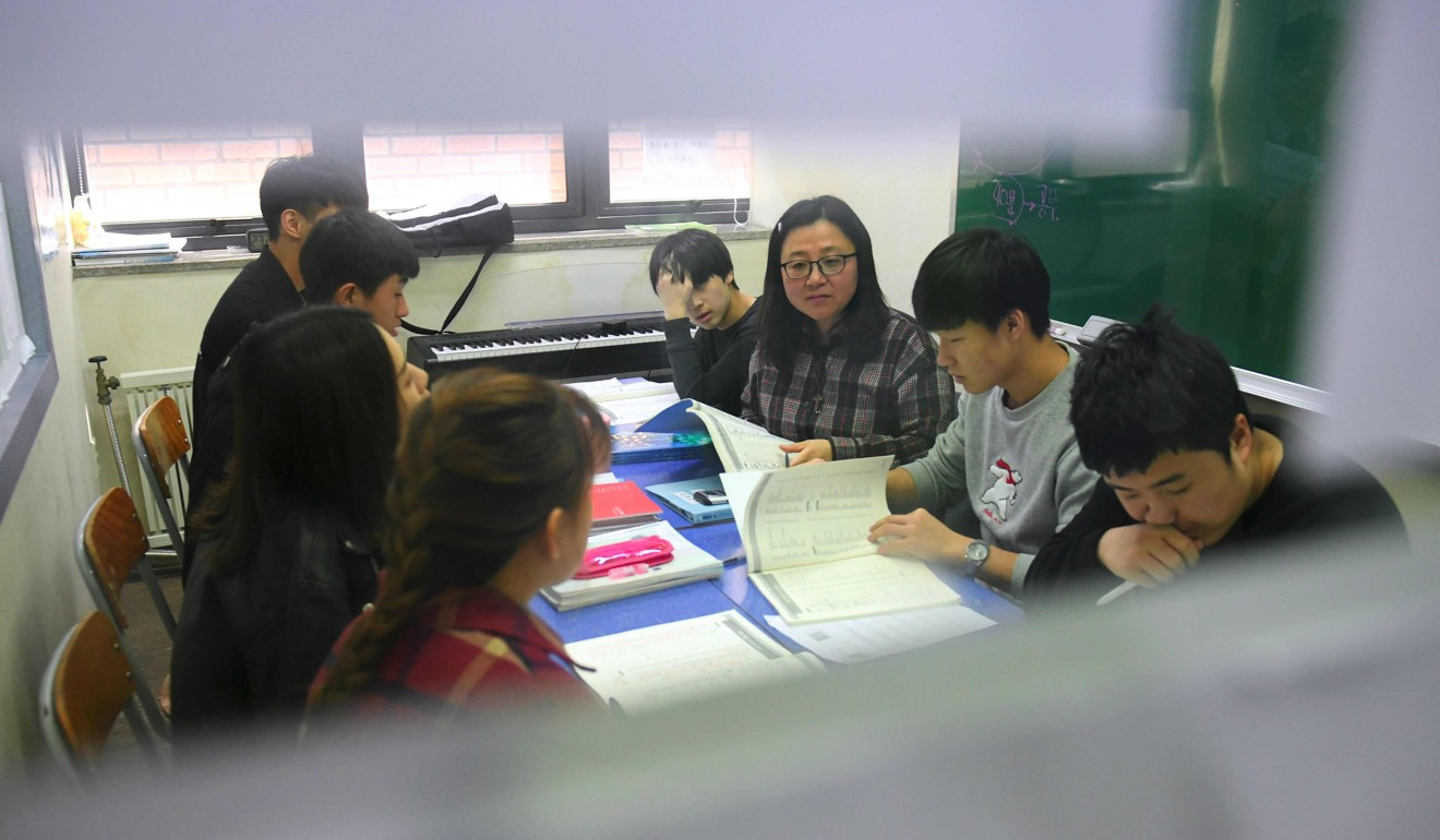 Some 60 students are enrolled at the Wooridul School for North Korean defectors in Seoul. Photo: AFP
