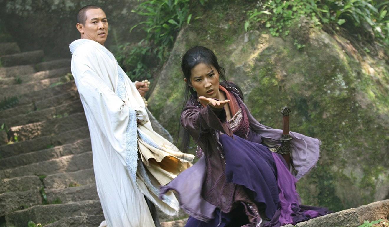 Liu appears alongside Jet Li in The Forbidden Kingdom. Photo: Handout