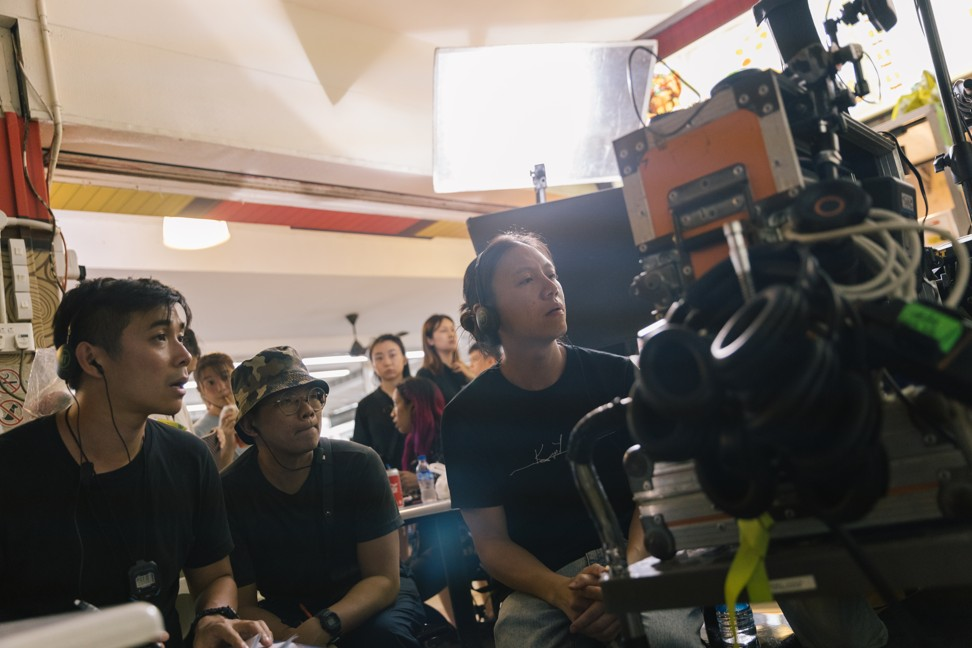 Ler (right) on the set of Invisible Stories.