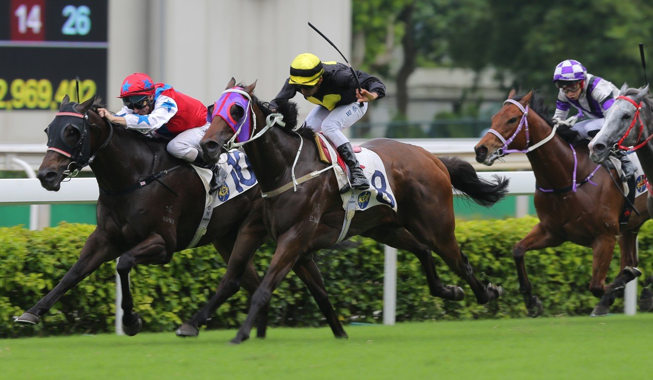 Karis Teetan boots home Circuit Three to win at Sha Tin.