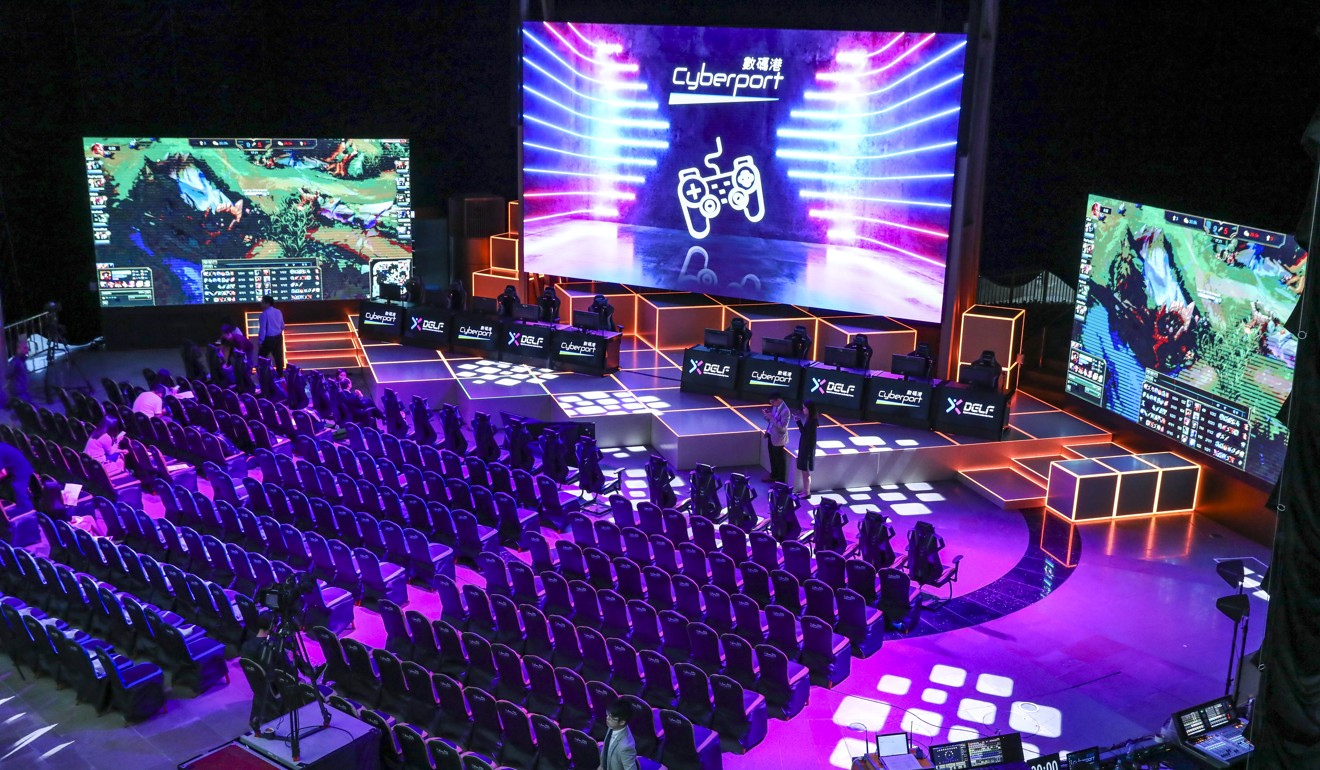 The e-sports venue at the Ocean View Court in Cyberport, where a two-week event starts on July 16. Photo: K. Y. Cheng
