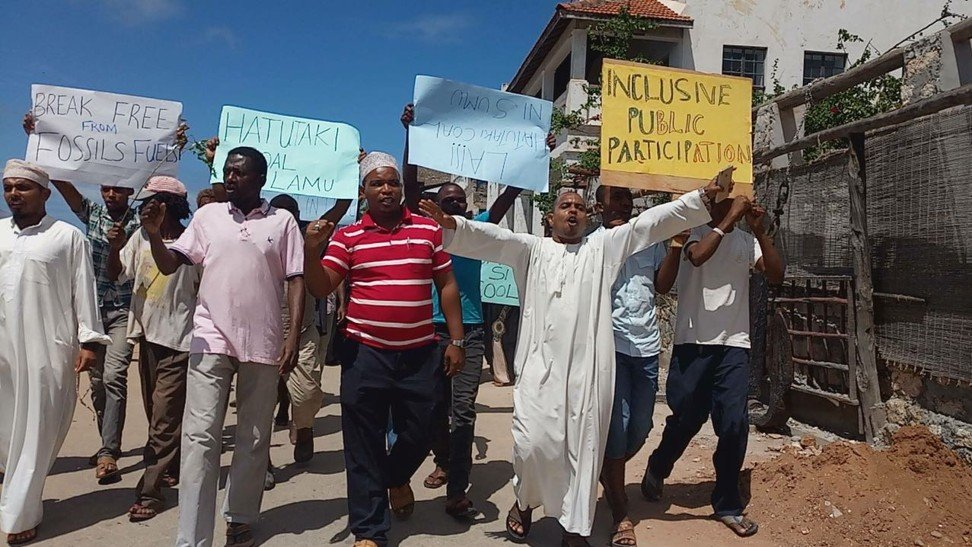 Activists and Lamu residents have protested about the coal plant. Photo: Handout