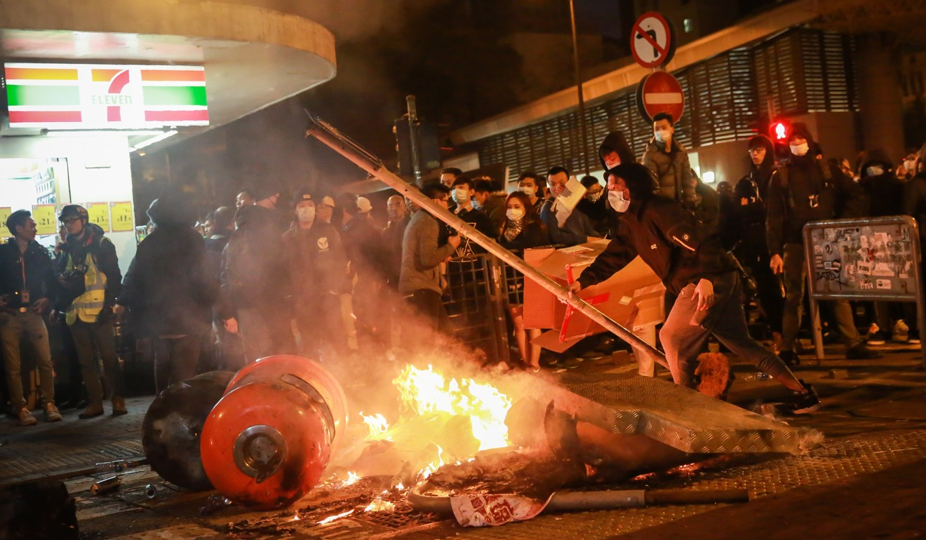 The Mong Kok Riot of 2016. Photo: Bloomberg