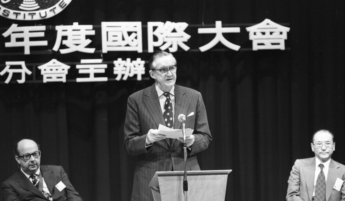 Hong Kong Governor Sir Murray MacLehose, pictured in 1979. File photo