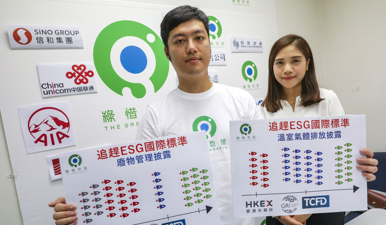 Companies listed in Hong Kong must exceed international standards in reporting environment data, say campaigners Green Earth