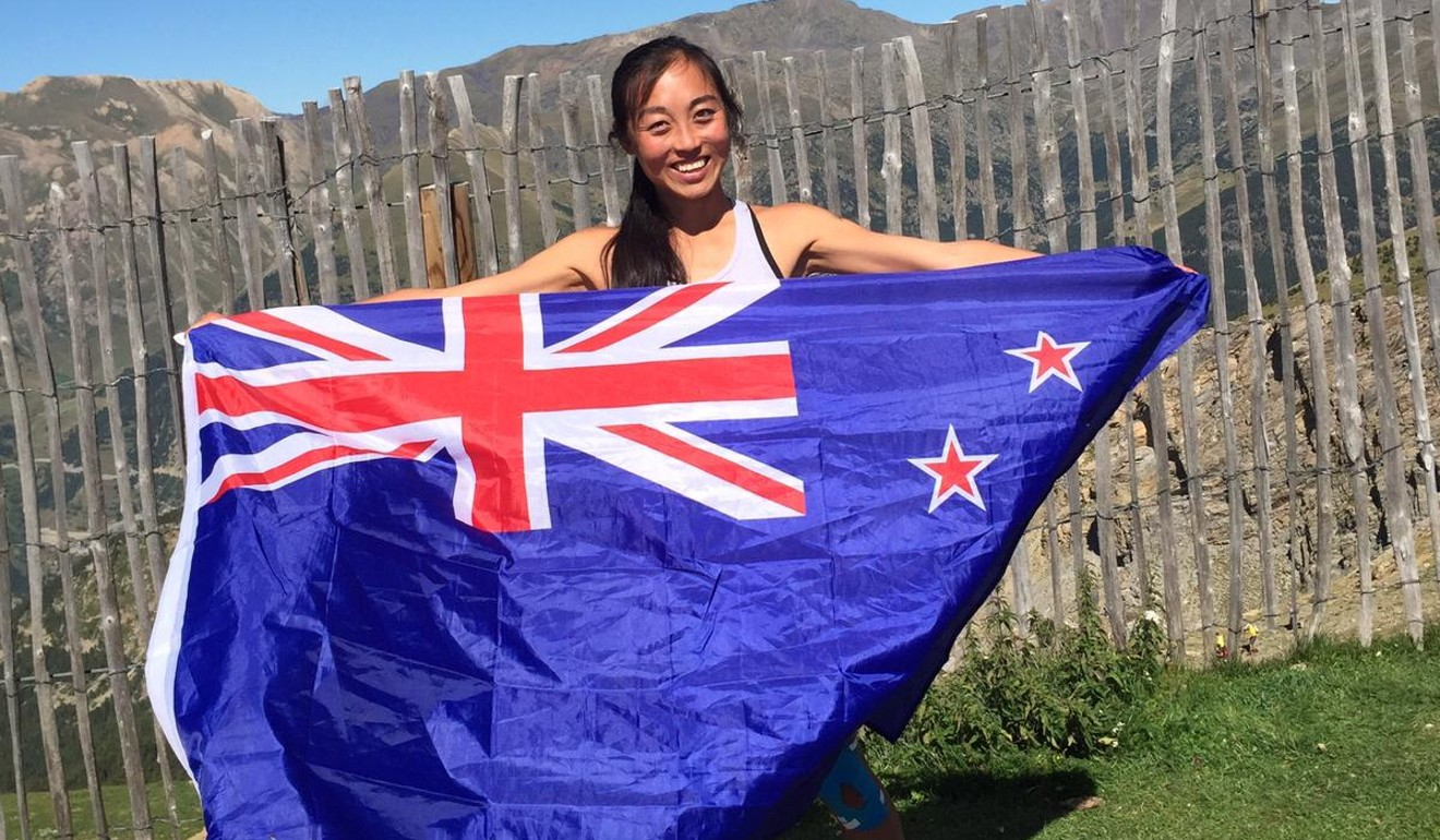 Nancy Jiang representing her home country New Zealand in Portugal.