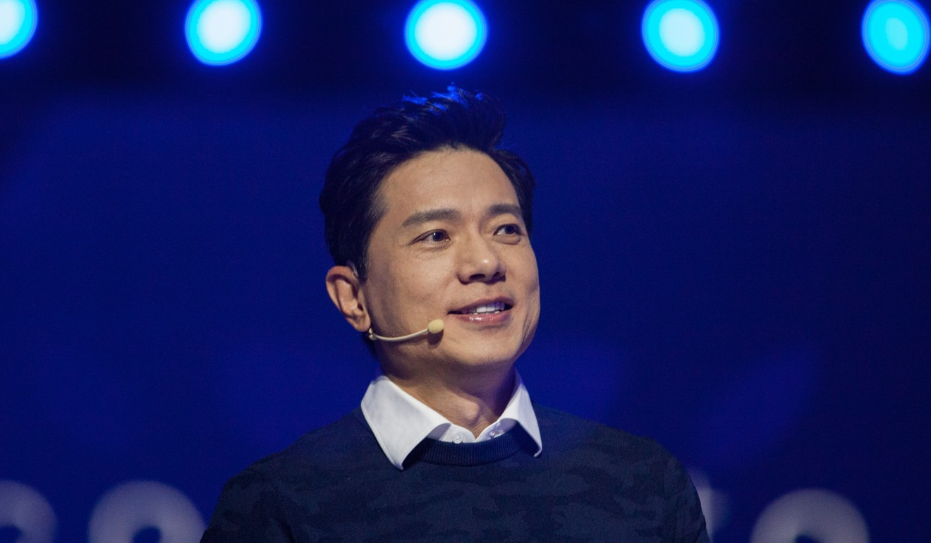 Robin Li, co-founder and CEO of Baidu, speaks at the Baidu World Technology Conference in Beijing. The company leads the smart speaker pack in China with 3.3 million units shipped in the first quarter of this year. Photo: Bloomberg